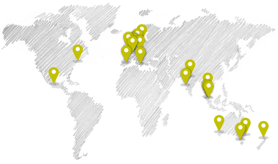 Map of Anecdote Global Partners