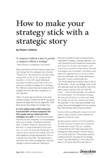 Anecdote article image: Making strategy stick with a strategic story