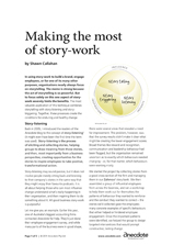 Anecdote article image: Making the most of story work