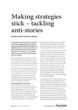 Anecdote article image: Making strategy stick – tackling anti-stories