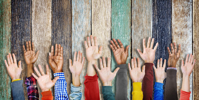 Hands reaching out - help people to reconnect