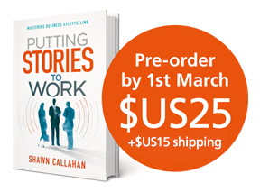 Putting Stories to Work book, pre-order by 1st March: $US25 + shipping