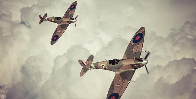 2 RAF Spitfires