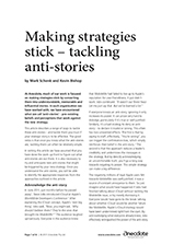 Anecdote article image: Making strategies stick - tackling anti-stories