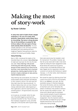 Anecdote article image: Making the most of story-work