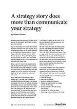 Anecdote article image: A strategy story does more than communicate your strategy