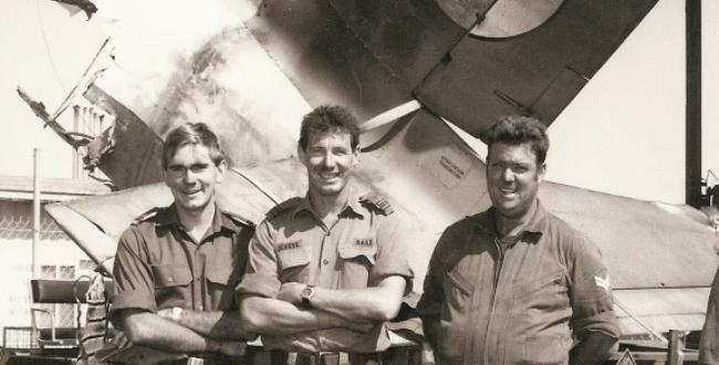 Mark at aircraft crash site